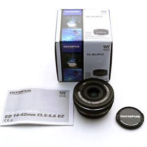 OLYMPUS-M-ZUIKO-DIGITAL-ED-14-42mm-F3-5-5-6-EZ-Lens-for-Micro-4-3-Black-Japan
