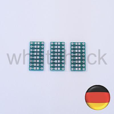 3x SMD Adapterplatine - Widerstände / Elkos / Kondensatoren / LED 0805 0603 0402
