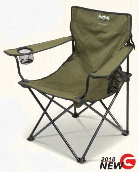 Saenger Folding Travel Chair With Arms NEW Fishing Lightweight Folding Chair
