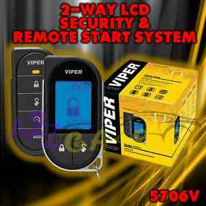 Details about VIPER 5706V LCD 2-WAY CAR ALARM REMOTE START KEYLESS SYSTEM  PAGER REMOTE 1 MILE