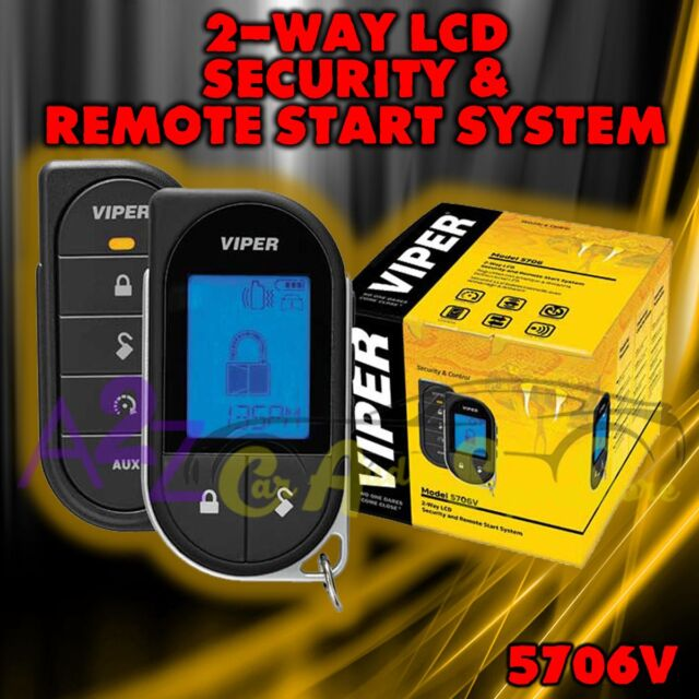 4 Door Lock Actuator Viper 3305V 2-WAY LCD Pager Complete Car Alarm With
