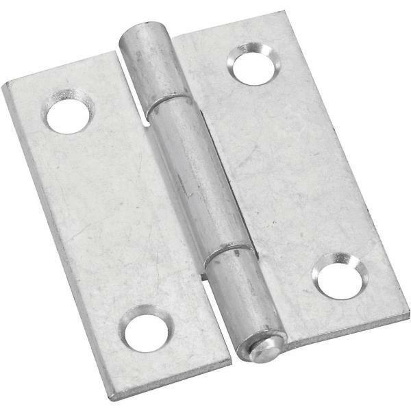 50 Pk Steel 2  W X 2  H Door Cabinet Tight-Pin Light Narrow Hinge 2 Pk N146159
