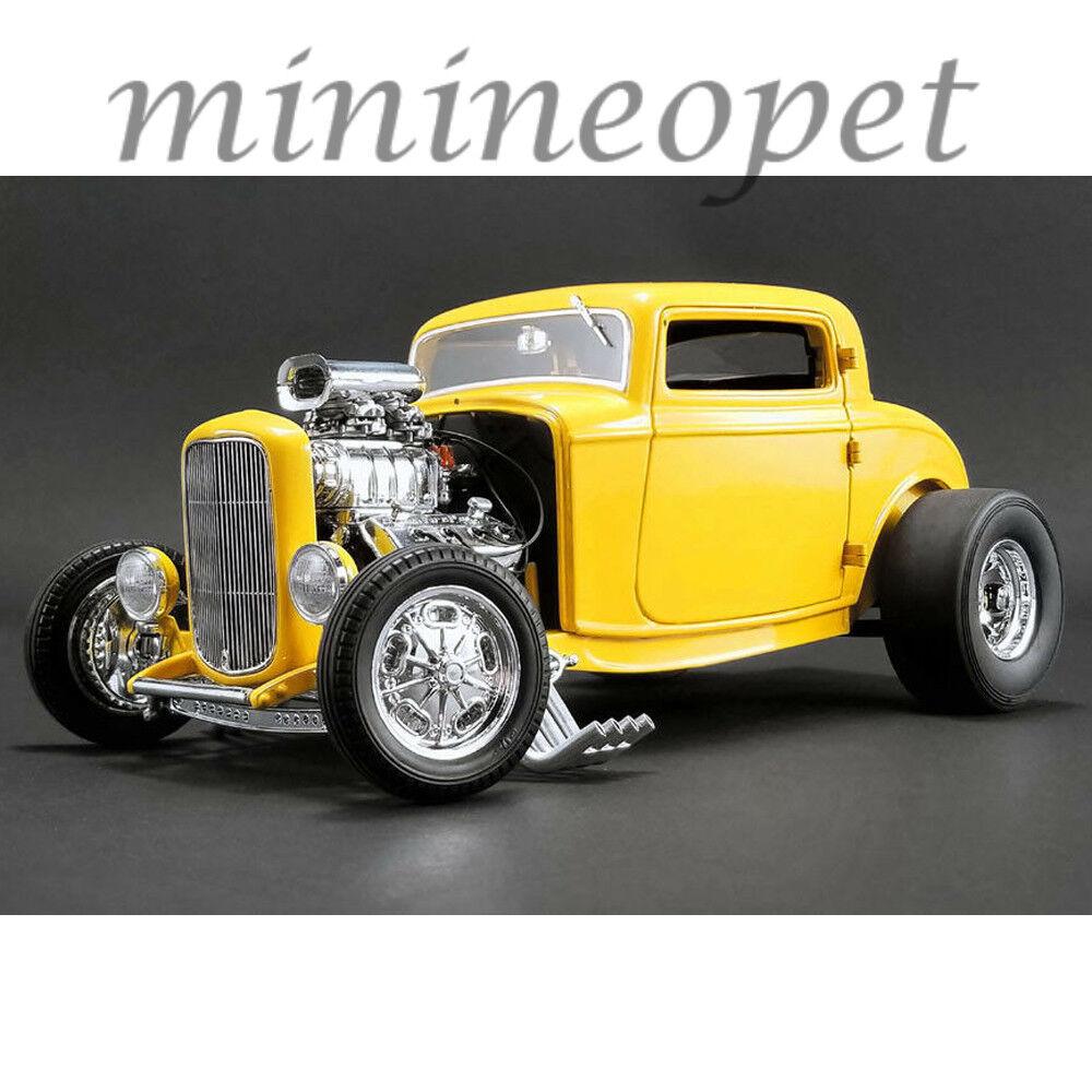 Acme a1805015 1932 ford in 3 fenster deuces wild 1   18 nein auto gelb