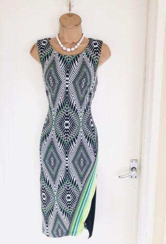 Frank Bodycon Lyman Beautiful Jersey Stretchy Colourful Dress 10 Uk Uwpvq