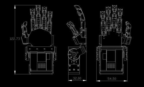 Humanoid Left Hand+Right Hand Five Fingers Manipulator Anthropomorphic for Robot