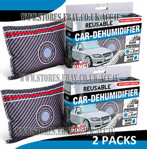 2 x pingi reusable car van windscreen demist moisture absorber dehumidifier bag ebay. Black Bedroom Furniture Sets. Home Design Ideas