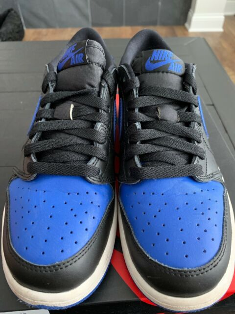 Nike Air Jordan 1 Retro Low OG BG Black Varsity Royal Sail Size 5.5y ... bc3b2b34b