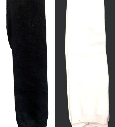 4Pairs Girls Knee High Cotton Socks Plain Black White School Socks3-13//2-8//6-11