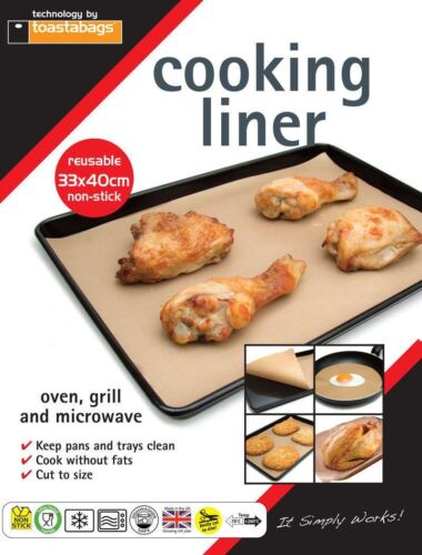 Reusable Non-Stick Cooking Liner Baking Sheet Oven Microwave No Mess Washable