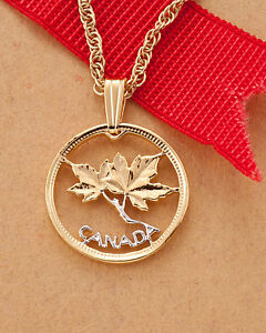 Canada-Maple-Leaf-One-Cent-Pendant-Necklace-Hand-cut-5-8-034-dia-762