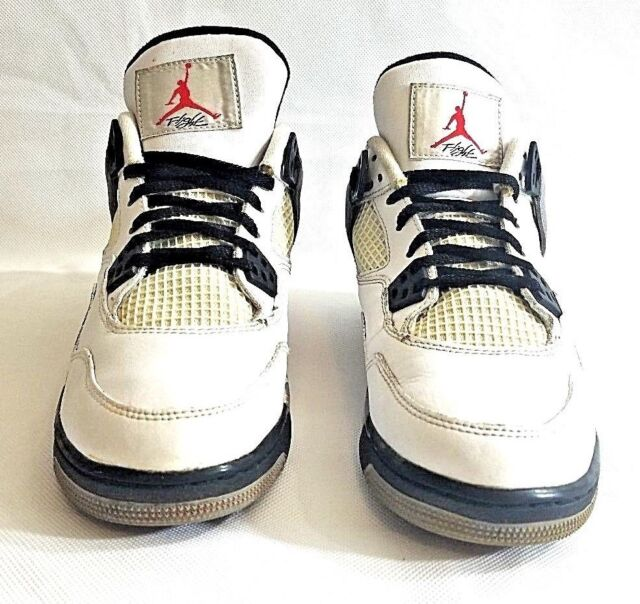 d22d287de8ab32 2012 Nike Air Jordan IV 4 Retro White Cement Grey Black 408452-103 ...