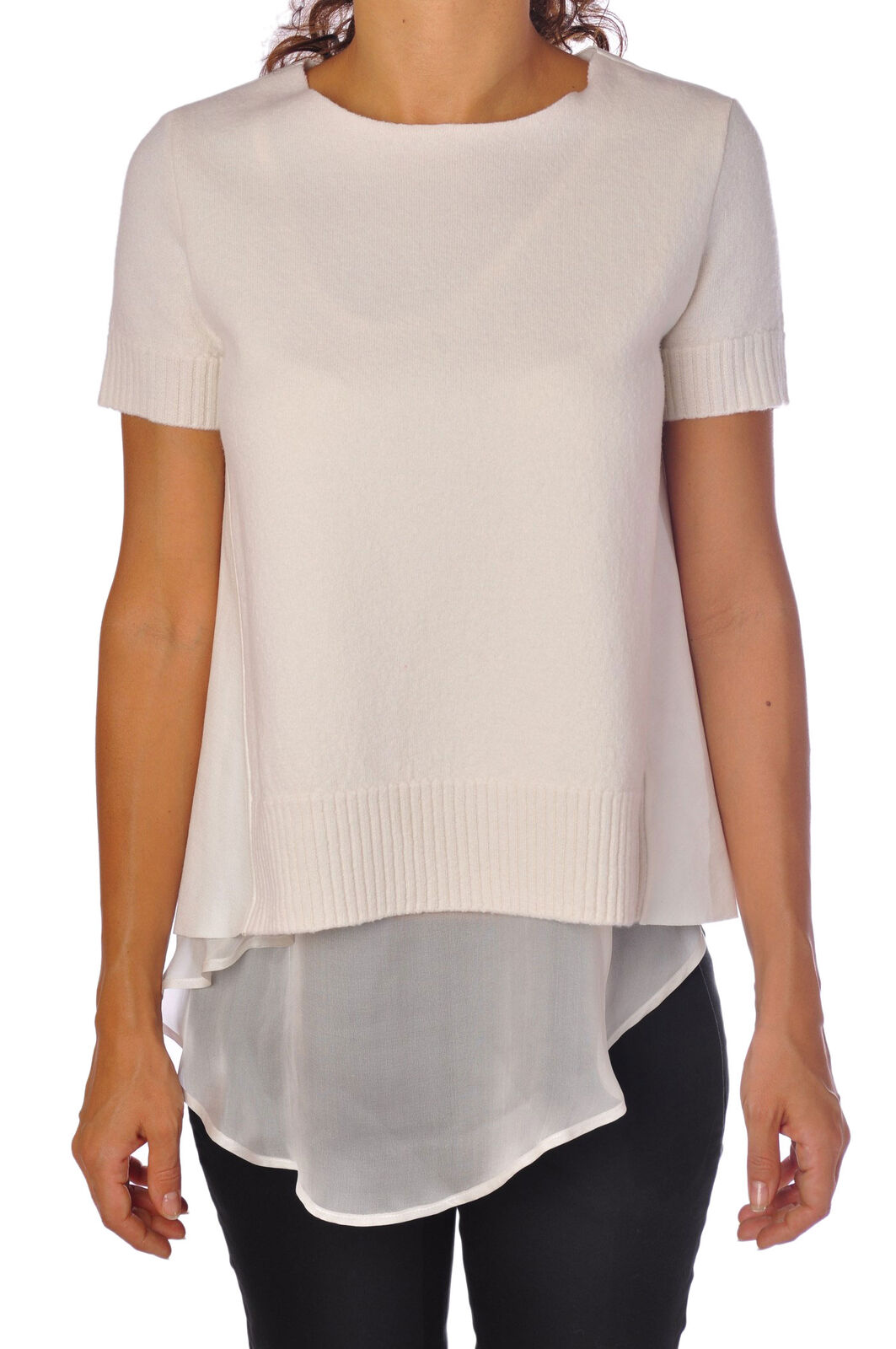 Dondup  -  Pullover - Donna - Bianco - 372727A185205