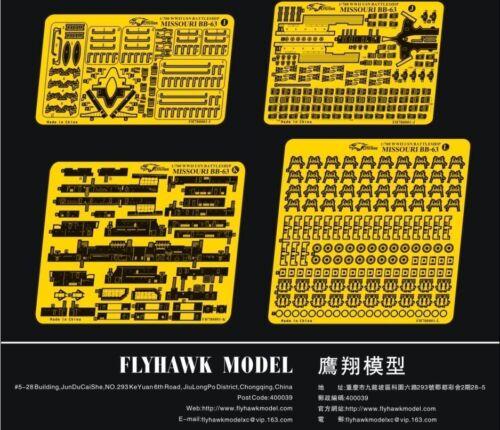 for TAMIYA Flyhawk FH780001 1//700 WW II USN Battleship Missouri Detailing Set