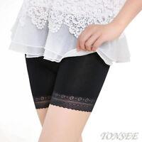 Women Lace Tiered Skirts Short Skirt Under Safety Pants Undie Underwear Shorts