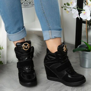 Womens Ankle Boots Ladies Hidden Wedge