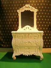 STOCK   Rococo dressing table   dresser vanity unit  WHITE or IVORY
