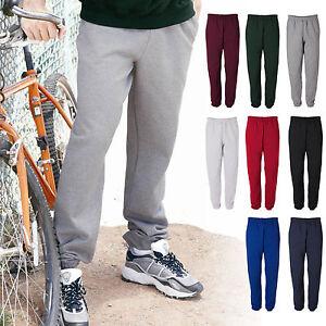 JERZEES-Mens-Size-S-2XL-3XL-4850MP-Heavy-Nu-Blend-Pocket-Sweatpants-4850p-50-50
