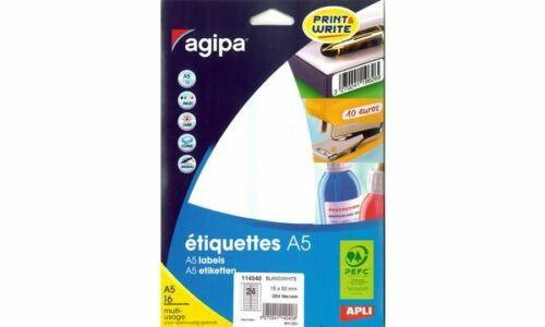 agipa Universal-Etiketten weiß rund Durchmesser: 30 mm