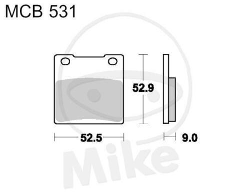 TRW Lucas balatas mcb531 atrás Suzuki GSX-R 600