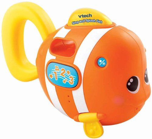 Vtech BABY SING AND SPLASH FISH Interactive Educational Bath Toy Kids BN