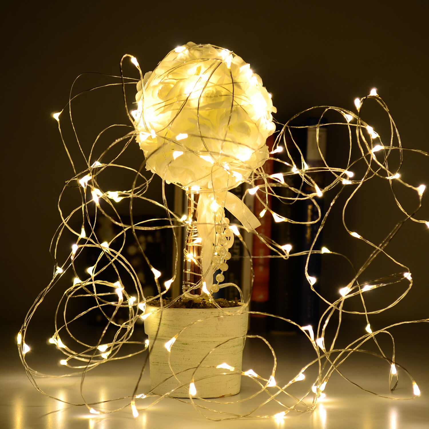3M Copper Wire 30 Led String Fairy Light Warm White Waterproof Battery Operated eBay