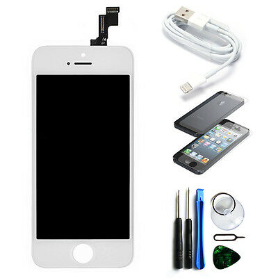 Replacement LCD Touch Screen Digitizer Front Glass Assembly for iPhone 5S White