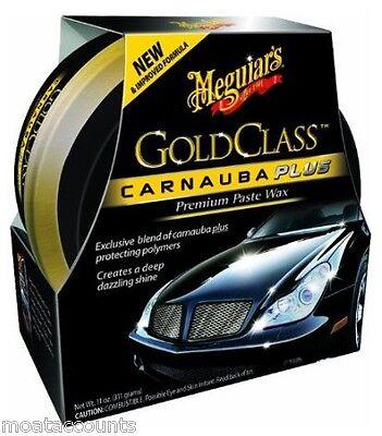 * Pack of 2 * Meguiars Gold Class Carnauba Paste Wax 311g [G7014] Plus Premium