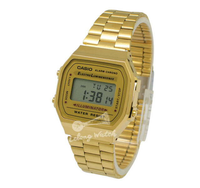 56e4d4fa1b1c -Casio A168WG-9W Digital Watch Brand New   100% Authentic for sale online