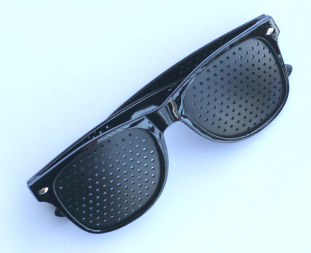 f2db8fd7b420 Eyes Exercise Eye Care Pinhole Pin Hole Glasses Vision Improve Eyewear  Eyesight