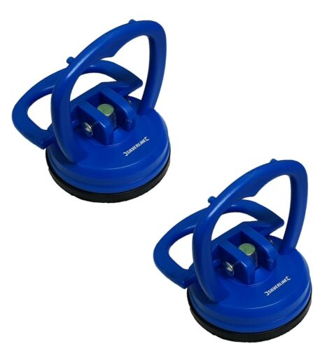 2x Heavy Duty Suction Pad Cup 15kg Glass Lifter Carry Car Dent Puller Sucker