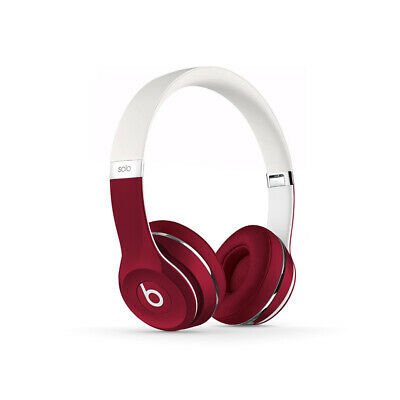 Beats Solo2 On Ear Wired Headphones Luxe Edition Ml9g2am A Red White 888462603799 Ebay