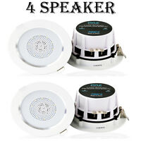 Lot Of (4) Pyle Pdic4 4'' Ceiling, Wall Speakers, 2-way Aluminum Frame Speaker on sale