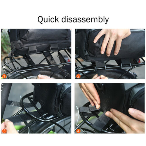 Bicycle Rear Large Capacity Rack Bag Bike Tail Seat Trunk Pack Stroage Pouch