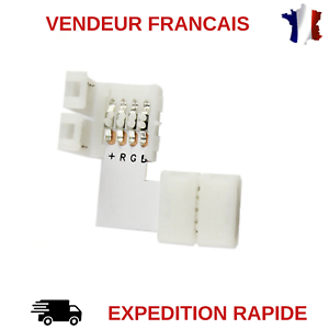 CONNECTEUR-D-039-ANGLE-POUR-STRIP-LED-RGB-5050-SANS-SOUDURE-RUBAN-LED