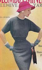 Vintage Knitting PATTERN to make Quick-Knit Designer Dress Easy BrownDress