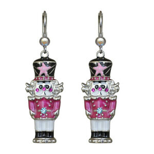 Kirks-Folly-Pretty-In-Pink-Nutcracker-Leverback-Earrings-Silvertone