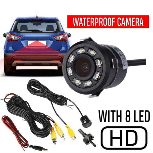 Car Backup Rear View Cam IP67 8 LED Night Vision HD Reverse Backup Night Camera