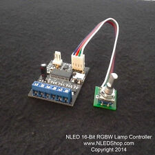 NLED 16-Bit RGBW Lamp Controller - RGB/RGBW, USB, Serial, DMX-512(Model B Only)