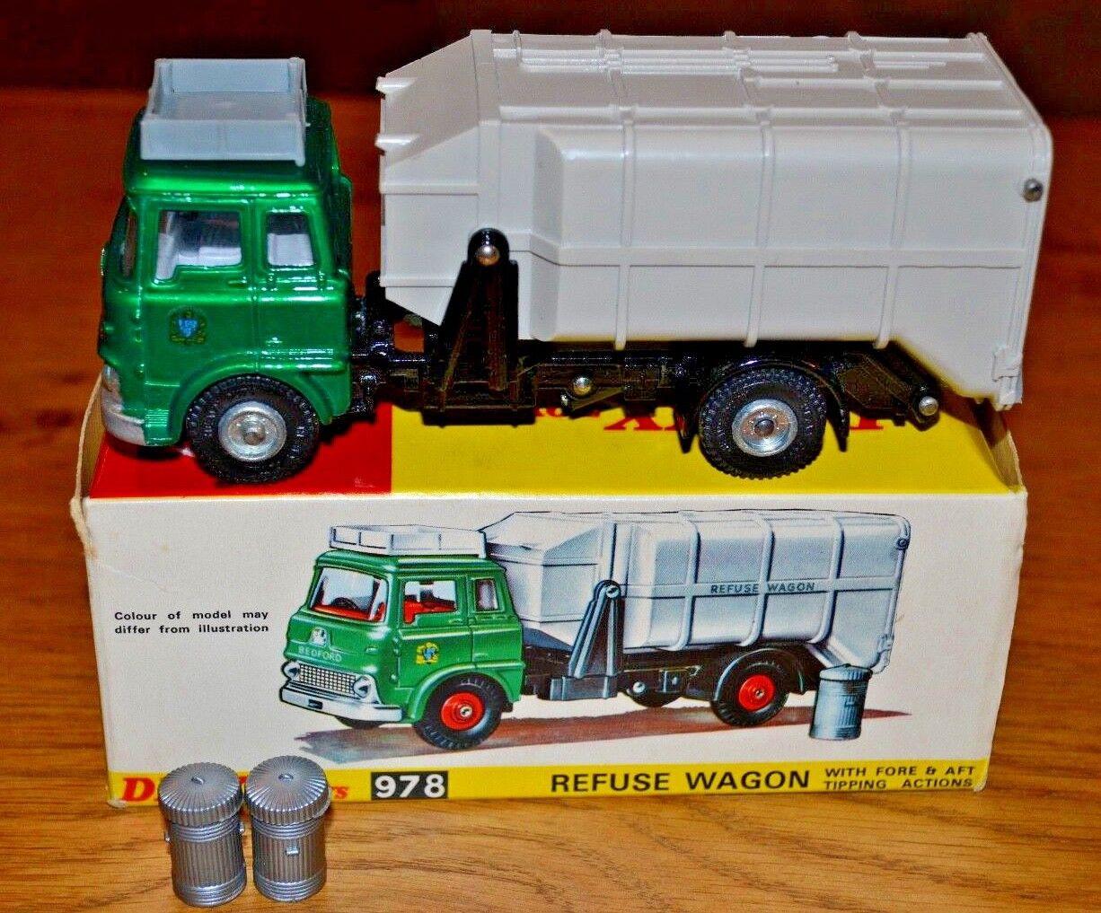 Vintage Dinky Toys 978 Bedford Refuse Wagon; Near Mint; Original Box