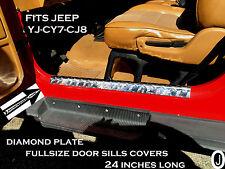 "Jeep Wrangler YJ-CJ7-CJ8 Diamond Plate Entry Guards - Sill Covers 24"" inch long"