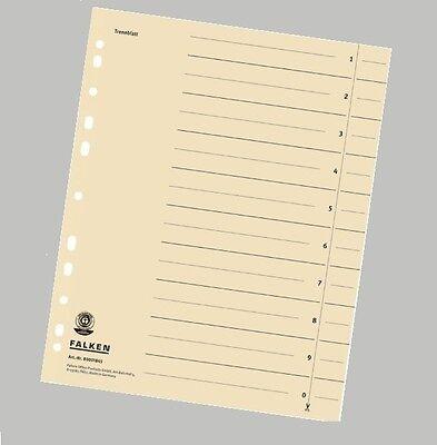 *** 10 X Original Falken Trennblätter A4 Register *** Registratur Trennpappen SorgfäLtige Berechnung Und Strikte Budgetierung