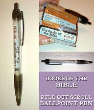 Pull-out libri di scorrimento o la Bibbia Penna a Sfera Clip tasca fede cristiana Regalo
