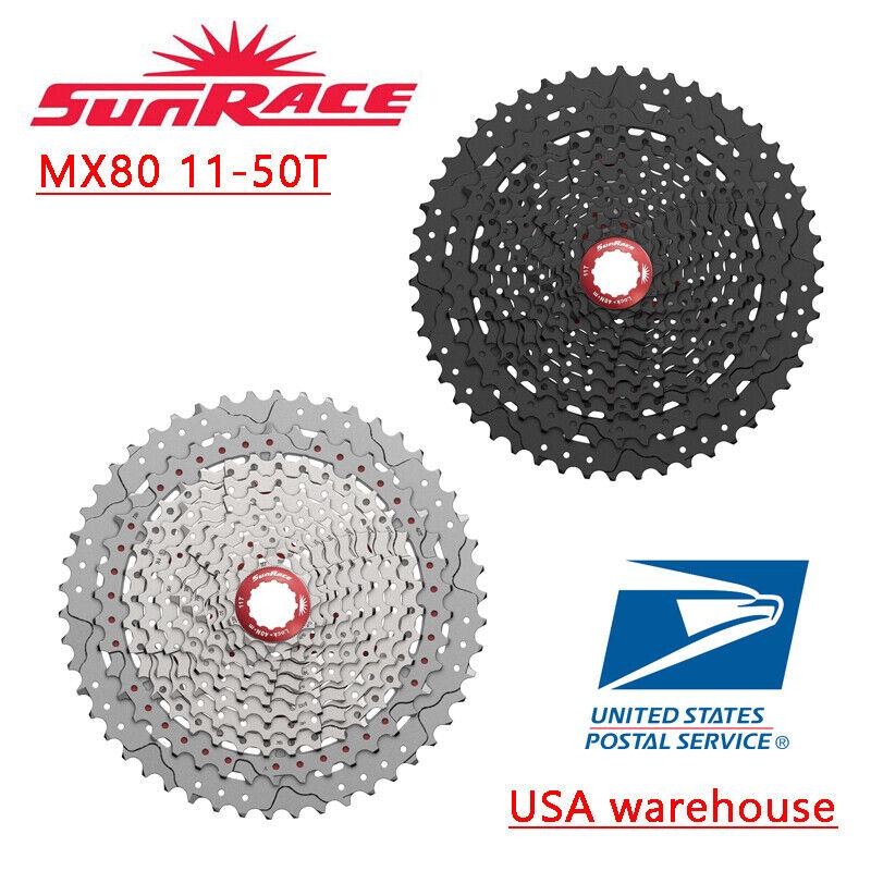 Sunrace CSMX80  MX80 11-50T 11 velocidades casete Negro Plata MTB Se adapta Sram Shimano  promociones de descuento