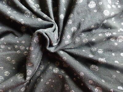 Aprendido Noir ,petits Pois Brillantés Tissu FabricacióN HáBil