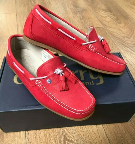 Dubarry Women/'s Jamaica Deck Shoes in Poppy Red Sizes 4 to 6.5 RRP £129