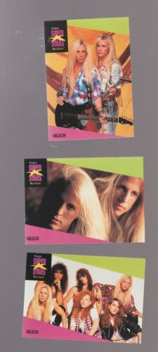 Lot of 3 Nelson rock band trading cards Published early 1990s Proset Musicards