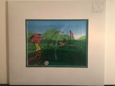 Pink Panther Golf Serigraph Cel By Friz Freleng