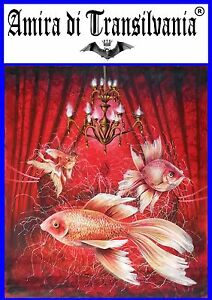 Golden-fish-red-animal-Painting-canvas-fine-art-direct-from-the-artist-acrylic