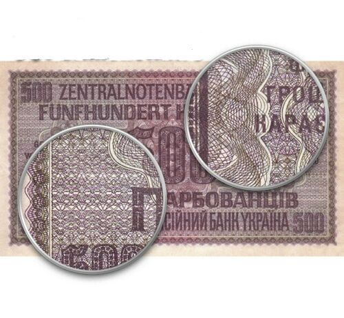 .VERY RARE UNC.500 karbovanets of 1942 the Reich Commissariat Copy banknoty