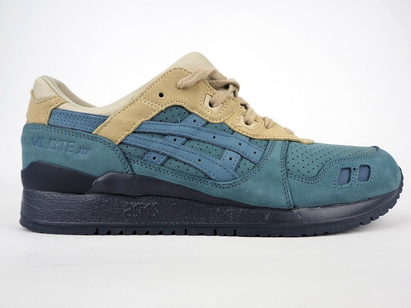 Asics Gel Lyte III H6W0L 4646 bluee Mirage Lace Up Leather Casual Trainers